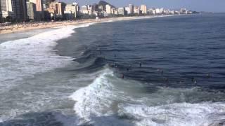 Surfers Catchin' Waves at the Mirante do Leblon