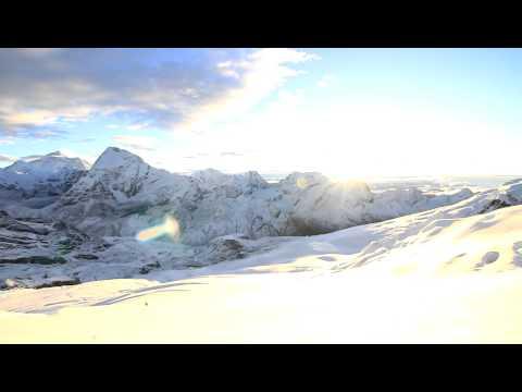 Mera Peak sunrising