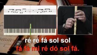 One Call Away Charlie Puth Karaoke das notas para flauta Educação Musical José Galvão