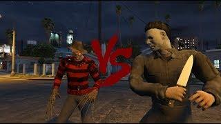 Freddy Krueger VS Michael Myers - Death Battle (GTA 5)