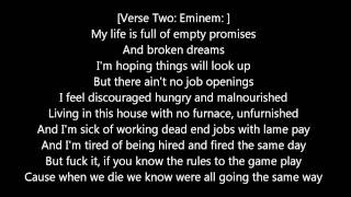 Eminem - Rock Bottom (with lyrics)