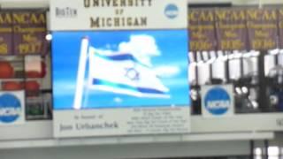 Israeli National Anthem played at the University of Michigan