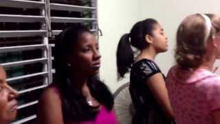 Adoracion en El Cafe on Tuesday night! July 2013, Santo Domingo, RD
