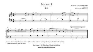 Mozart : Minuet 1 in C Major, K 6