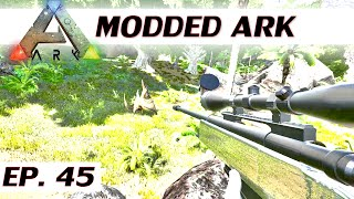 Modded ARK: Survival Evolved - Ep 45 - Sniper tranq - single player let's play s3 - solo