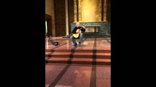 Damon Buxton guitarist & composer sound test at Bastyr chapel