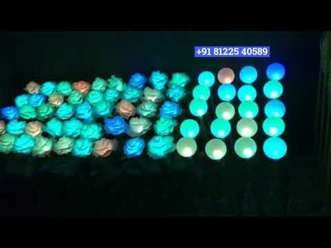 LED Rose Flower Wedding Decoration Chennai | Bangalore | Andhra | Hyderabad +91 81225 40589