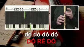 Whistle - Flo rida - Karaoke das notas para flauta - Jose Galvao