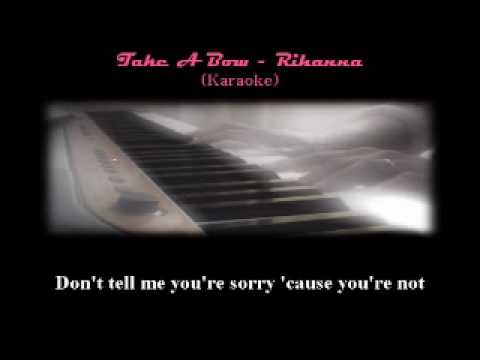 Rihannas Take A Bow Karaokeminus Oneback Up Piano Only Chords