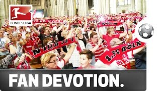 Köln Fans Sing Anthem in Cologne Cathedral