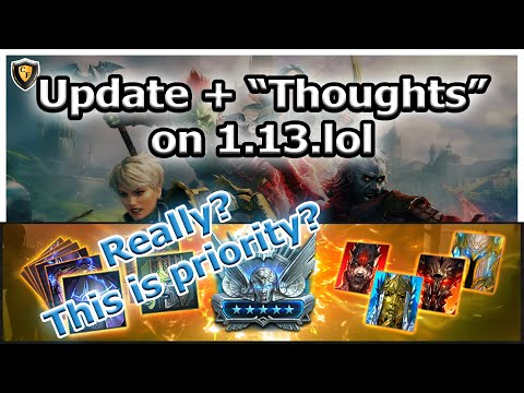 RAID Shadow Legends | Update + Thoughts on 1.13.lol | Wrong Priorities