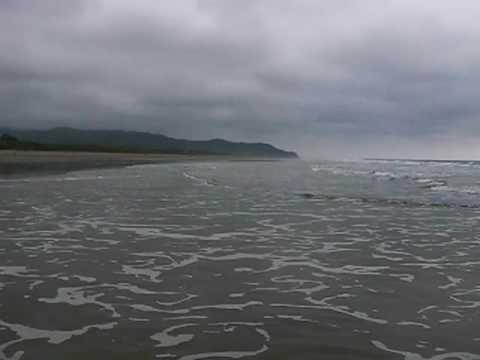Vista del oceano pacifico desde Las Tunas, Manabi, Ecuador