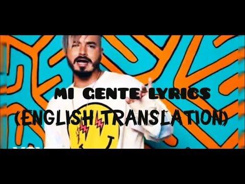 Mi gente - J Balvin & Willy William (Lyrics) ENGLISH LYRICS