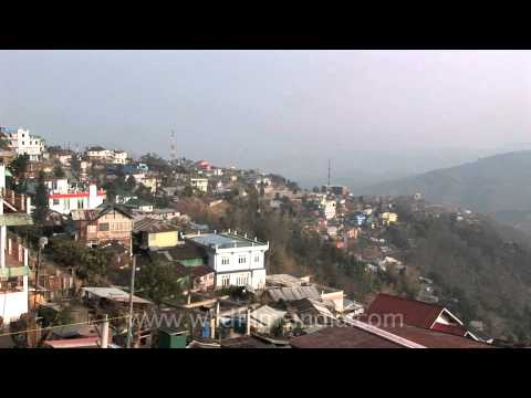 Hill top view of Kohima city