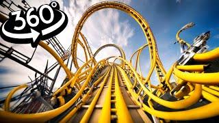 VR Coaster 360 Simulation of Busch Gardens LOCH NESS MONSTER & Alpengeist OnRide VR 360 4k