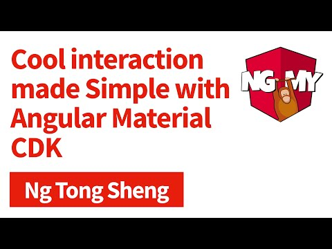 Cool interaction made simple with Angular Material CDK