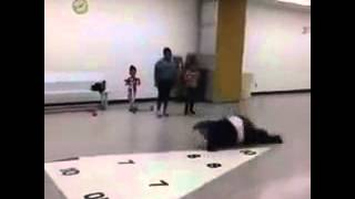 Fat girl fails in cheerleading!
