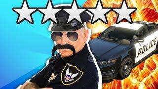 FASTEST WAY TO GET 5 STARS IN GTA 5!   GTA V Tutorial