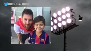 Lali Esposito se toma fotos con Messi en Barcelon