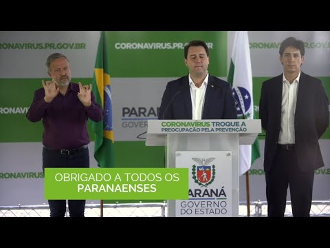 Governador Ratinho Junior agradece aos paranaenses - Cidade Portal