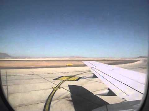 Take off from Cerro Moreno Airport, Antofagasta city, Sky Airline Chile