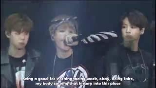 [Eng] We are Bulletproof pt 1 live - 2015 BTS Live Trilogy Episode I : BTS BEGINS