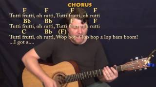 Tutti Frutti (Little Richard) Guitar Cover Lesson in F with Chords/Lyrics