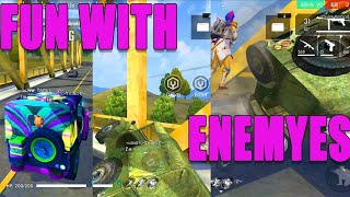 Fun with enemy's in free fire   free fire fun moments in tamil   Run gaming tamil
