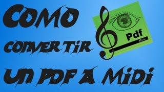 Tutorial | Como transformar partituras PDF en formato MIDI