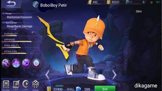 KEREN!! Edit hero boboiboy galaxy di mobile legends...
