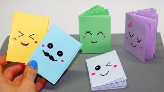 DIY Kawaii notebook of 1 sheet of paper / Mini notebook OF OWN HANDS / Ideas for school / Julia DIY
