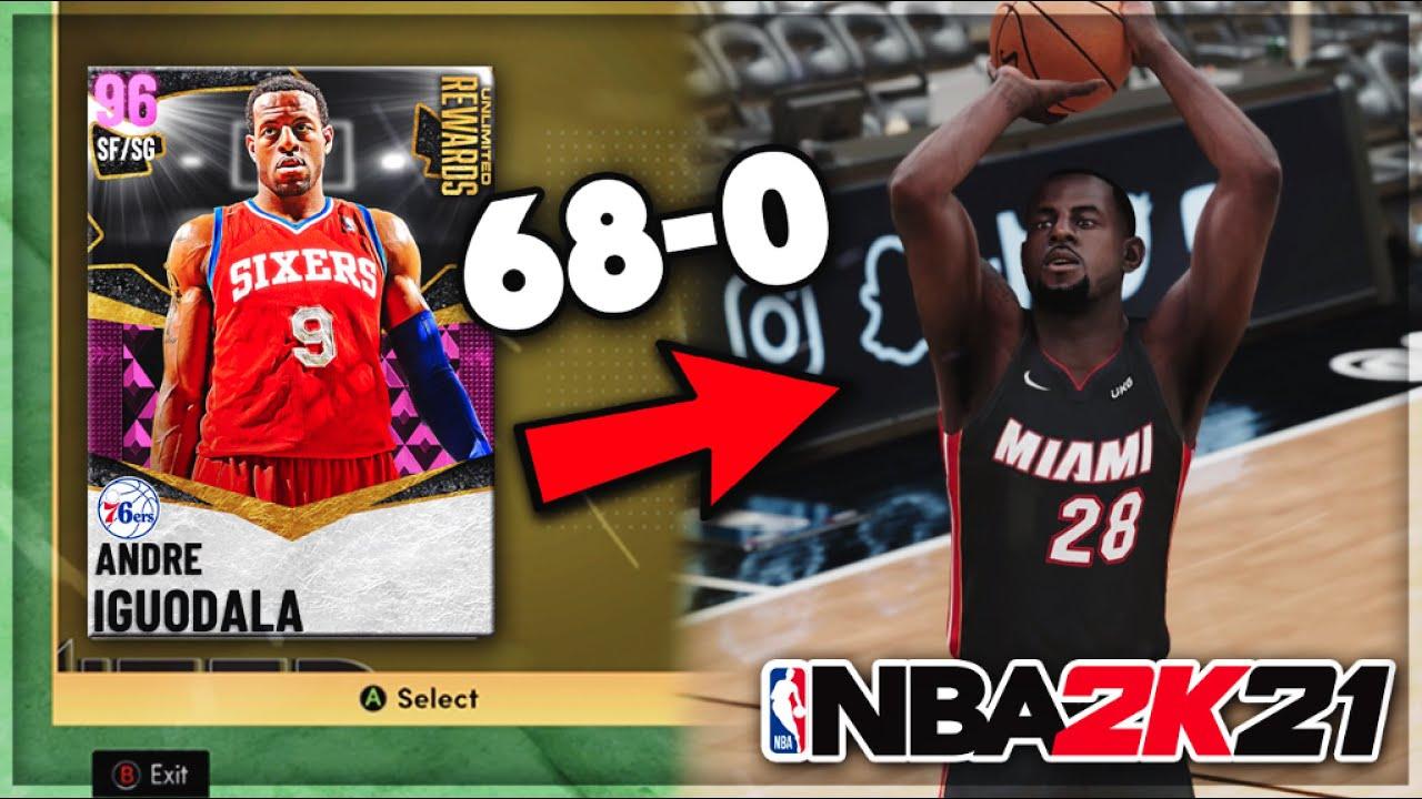 DBG - FREE UNLIMITED REWARD PINK DIAMOND ANDRE IGUODALA GAMEPLAY! IS HE WORTH THE GRIND IN NBA 2K21 MyTEAM