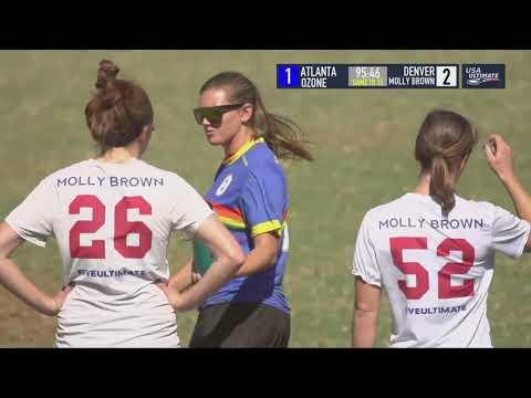 Video Thumbnail: 2018 National Championships, Women's Quarterfinal: Atlanta Ozone vs. Denver Molly Brown