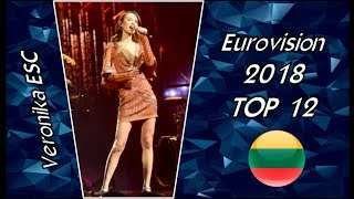 Eurovision 2018 LITHUANIA: Top 12 of Second Heat