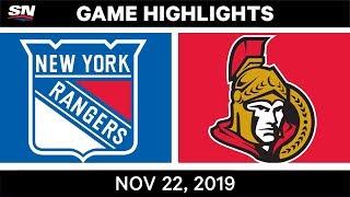 NHL Highlights | Rangers vs. Senators – Nov. 22, 2019