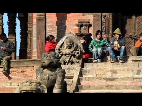 tempio Nyatapola a Taumadi Tole antica città di Bhaktapur
