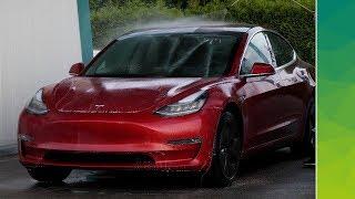 Erste Testfahrt mit unserem Tesla Model 3