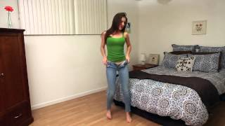 Sexy Girl and her very tight jeans  Hot Pants    YouTube width=
