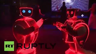 Moscow: Robots dazzle the crowds at Robonight 2015 in Moscow