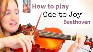 Beethoven - Ode to Joy (Simple Version) | Easy Beginners Song | Violin Tutorial