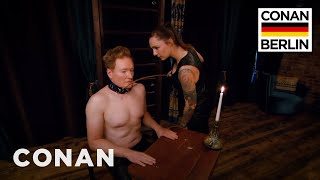 Conan Submits To A Dominatrix  - CONAN on TBS width=