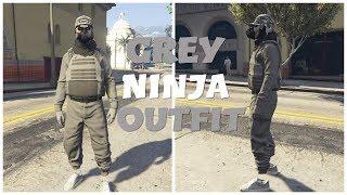GTA 5 ONLINE MODDED OUTFIT TRYHARD/RNG (GREY NINJA)