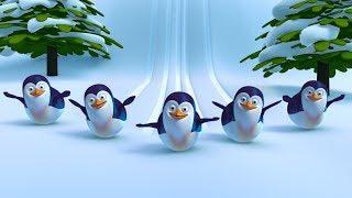 Five Little Penguins | Funny 3d Kindergarten Baby Songs by FunForKidsTV
