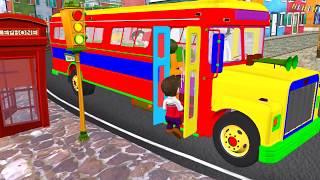 Autobusi | Wheels on the bus #001 Autobuzi kenge per femije shqip width=