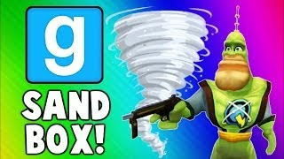 Gmod Sandbox Funny Moments TORNADO Edition - House Destruction & Skit Fails (Garry's Mod) width=