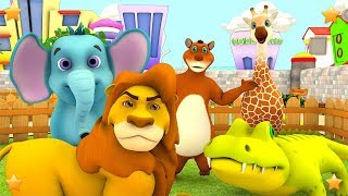 The Zoo Song | We're going to the Zoo | Animals Song | Kindergarten Song by Little Treehouse S03E125