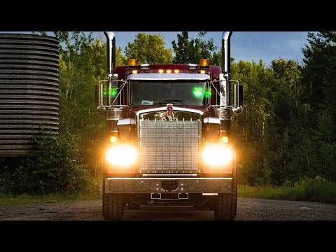 Download Video Semi Truck Test Drive In Northern Canada In The Rain - 2020 Kenworth W900B Logger