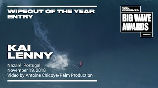 Kai Lenny at Nazare - 2019 Wipeout of the Year Entry - WSL Big Wave Awards