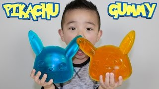 Making A Giant Pikachu Gummy Candy Sweets With CKN Toys Pokemon Go Candy width=