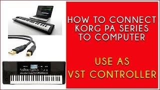 How to connect PA300 PA600 PA700 PA900 and PA1000 to PC as VST Controllor